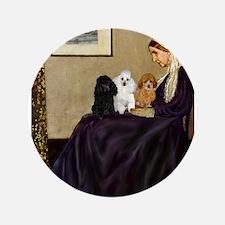 "Whistler's / 3 Poodles 3.5"" Button"