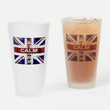Keep Calm Union Jack Drinking Glass