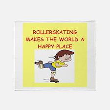 roller skating Throw Blanket