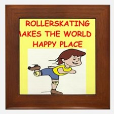 roller skating Framed Tile