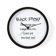 Black friday last one funny Wall Clock