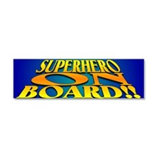 SuperHero On Board Car Magnet 10 x 3
