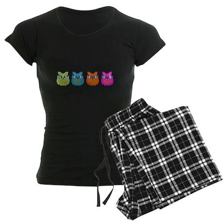 Colorful Owls Women's Dark Pajamas