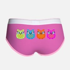 Colorful Owls Women's Boy Brief