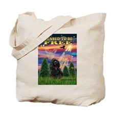 Blessed to be Free Cocker Tote Bag