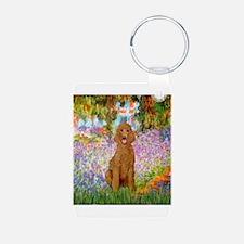 Garden/Std Poodle (apricot) Keychains