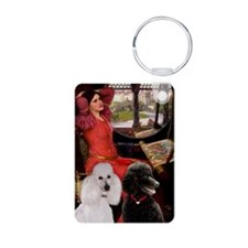 Lady / 2 Poodles (St) Keychains