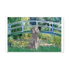 Bridge/Std Poodle silver) Wall Decal