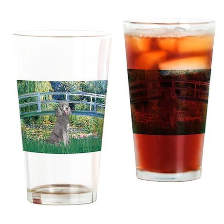 Bridge/Std Poodle silver) Drinking Glass