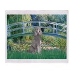 Bridge/Std Poodle silver) Throw Blanket