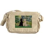 Bridge / Std Poodle (pr) Messenger Bag