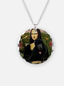Mona / Std Poodle (bl) Necklace