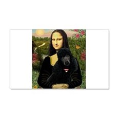 Mona / Std Poodle (bl) Wall Decal
