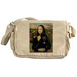 Mona / Std Poodle (bl) Messenger Bag