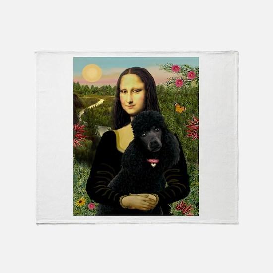 Mona / Std Poodle (bl) Throw Blanket