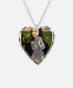 Mona Lia/Std Poodle (silver) Necklace