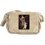Ophelia /2 Poodles(b&w) Messenger Bag