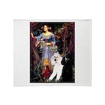 Ophelia /2 Poodles(b&w) Throw Blanket
