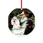 Ophelia / Poodle pair Ornament (Round)
