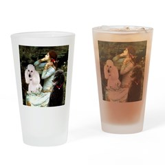 Ophelia / Poodle pair Drinking Glass