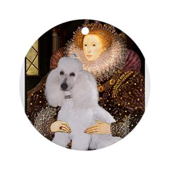 Queen / Std Poodle(w) Ornament (Round)