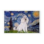 Starry Night / Std Poodle(w) 20x12 Wall Decal