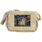 Starry Night / Std Poodle(w) Messenger Bag