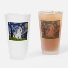 Starry Night / Std Poodle(w) Drinking Glass