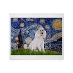 Starry Night / Std Poodle(w) Throw Blanket