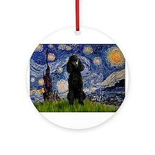 Starry / Std Poodle(bl) Ornament (Round)