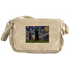 Starry / Std Poodle(bl) Messenger Bag