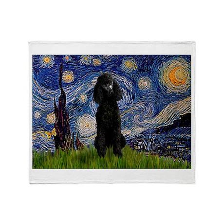 Starry / Std Poodle(bl) Throw Blanket