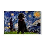 Starry / Std Poodle(bl) 20x12 Wall Decal