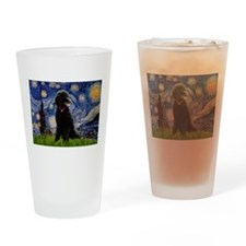 Starry / Std Poodle(bl) Drinking Glass