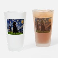 Starry / Std Poodle(bl) Drinking Glass