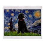 Starry / Std Poodle(bl) Throw Blanket