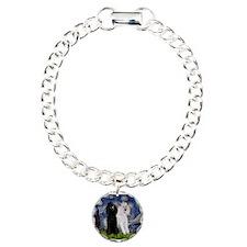 Starry Night / 2 Poodles(b&w) Bracelet