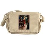 Tristan / 2 Poodles(b&w) Messenger Bag