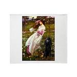Windflowers / Poodle (BLk-ST) Throw Blanket