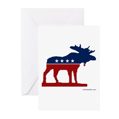 Bull Moose Party Greeting Cards (Pk of 20)