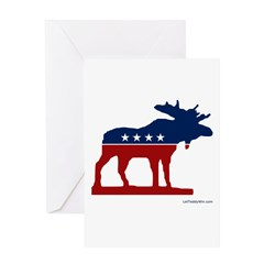 Bull Moose Party Greeting Card