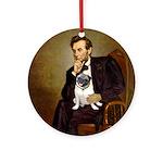 Lincoln's Pug Ornament (Round)
