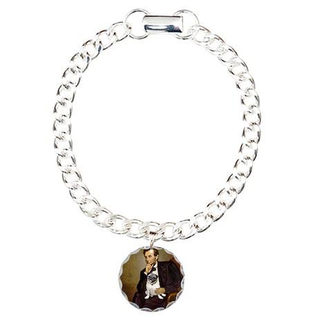 Lincoln's Pug Charm Bracelet, One Charm
