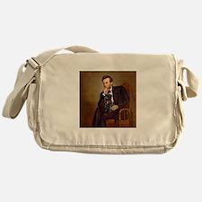 Lincoln-Black Pug Messenger Bag