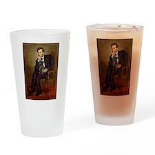 Lincoln-Black Pug Drinking Glass