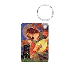 Mandolin Angel / Black Pug Keychains