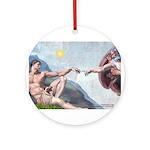Creation / Fawn Pug Ornament (Round)