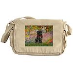 Garden / Black Pug Messenger Bag