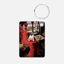 Lady / Pug Keychains