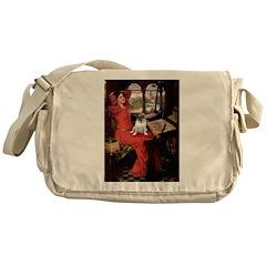Lady / Pug Messenger Bag